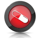 Pill icon — Stock Photo
