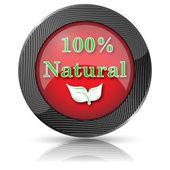 100 % přírodní ikona — Stock fotografie