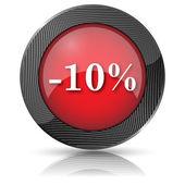 10 percent discount icon — Stock Photo