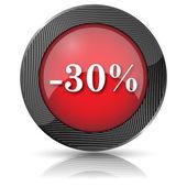 30 procent korting pictogram — Stockfoto