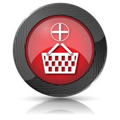 Add to basket icon — Foto Stock