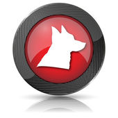 Dog icon — Stock Photo