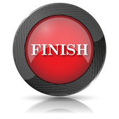 Finish icon — Stock Photo