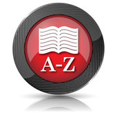 A-Z book icon — Stockfoto