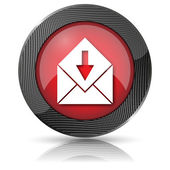 Receive e-mail icon — Stock Photo