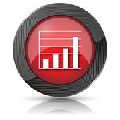 Chart bars icon — Stock Photo