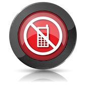 Cep telefonu yasak simgesi — Stok fotoğraf