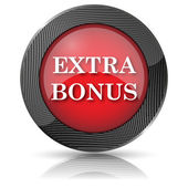 Extra bonus icon — Stock Photo