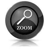 Zoom con icona lente di ingrandimento — Foto Stock