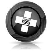 Medische patch pictogram — Stockfoto