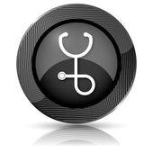 Stethoscope icon — 图库照片