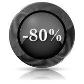 80 percent discount icon — Stockfoto