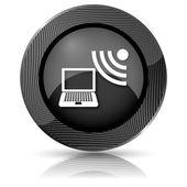 Pictogram draadloze laptop — Stockfoto