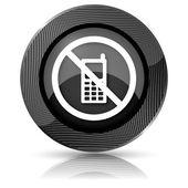 Icono restringida de teléfono móvil — Foto de Stock
