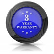 3 year warranty icon — Foto Stock