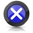 X close icon — Stockfoto #35899137