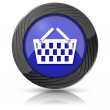 Shopping basket icon — Photo