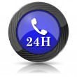 24H phone icon — Stock Photo #35899975