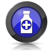 Piller flaska ikonen — Stockfoto