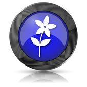Kwiat ikona — Zdjęcie stockowe
