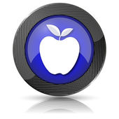 Apple icon — Stock Photo