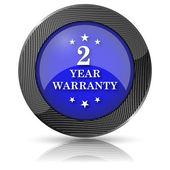 2 year warranty icon — Stock Photo