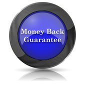Money back guarantee icon — Stock Photo