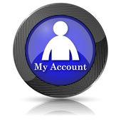 Můj účet ikona — Stock fotografie