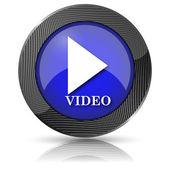 Icono de reproducción de vídeo — Foto de Stock