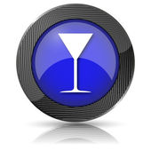 Martini glass icon — Stock Photo