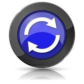 Reload two arrows icon — Stock Photo