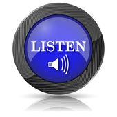 Listen icon — Stock Photo