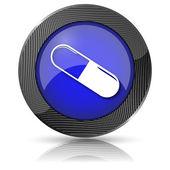 Icono de píldora — Foto de Stock