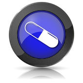 Pill icon — Stock Photo