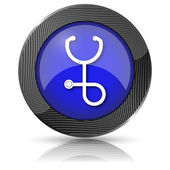 Stethoscope icon — Stock Photo