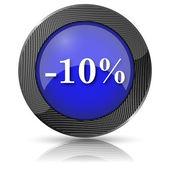 Icono de 10% de descuento — Foto de Stock
