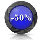 Ikona 50 procent zniżki — Zdjęcie stockowe
