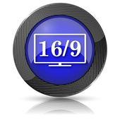 16 9 电视图标 — 图库照片