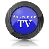 Como se ve en el icono de tv — Foto de Stock