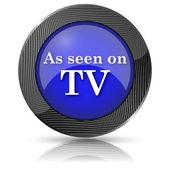 Tv simgesi üzerinde görüldüğü gibi — Stok fotoğraf