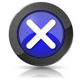 X el icono cerrar — Foto de Stock