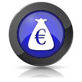 Euro çuval simgesi — Stok fotoğraf