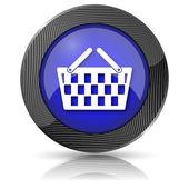 Icono de canasta comercial — Foto de Stock