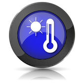 Sun and thermometer icon — Stok fotoğraf