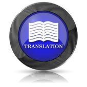 Icône représentant un livre traduction — Photo