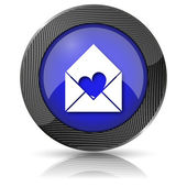 Enviar amor ícone — Fotografia Stock