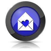 Send love icon — Stockfoto