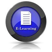 ícone de e-learning — Foto Stock