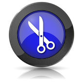 Cut icon — Stock Photo