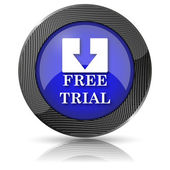 Icono de prueba gratis — Foto de Stock